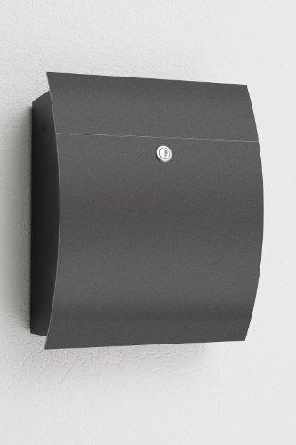 CMD Briefkasten Edition 77 new design schwarz anthrazit ohne Fenster