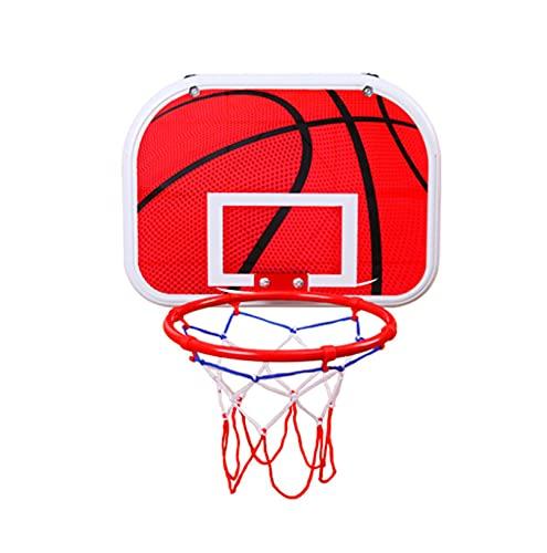 Canasta Baloncesto Pared, Niños Aro Baloncesto, Juego De Juego De Aro De Baloncesto, Dos Métodos De Instalación, Adecuado para Varios Escenarios,Rojo,Large