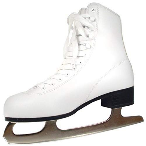 American Athletic Shoe Women's Tricot Lined Ice Skates, White, 7