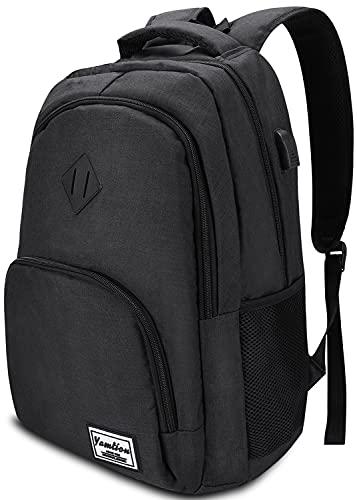 YAMITON Premium Rucksack mit Laptopfach & USB Ladeanschluss - Business Herren Rucksack für Laptop 15,6 Zoll für Arbeit Studium Schule Wandern Camping & Reisen 35L