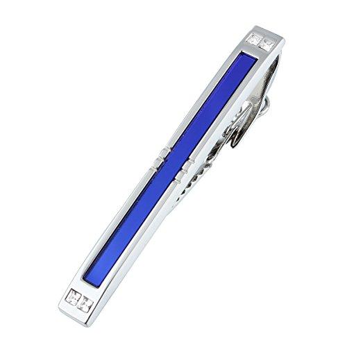 HAWSON2 2.35インチ色の黒とブルーガラス メンズスーツ アクセサリーネクタイピン