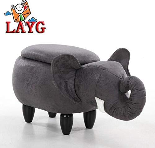 M.TG Reposapiés Animal,Elefante Escabel Creativo para Niños, Taburete Animal Almacenamiento,Baúl Puff Taburete,Almacenamiento...