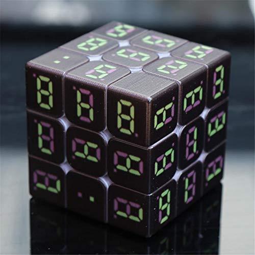 Digitalanzeige Zeitschaltuhr Dritter Ordnung Rubiks Cube Rennlaufschraube Rubiks Würfel Bildungs-Spielzeug