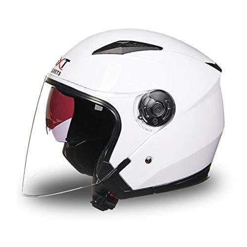 Casque moto homme et femme double protection UV (Couleur : C-L(55-57cm))