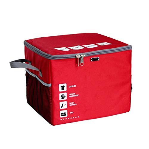 Chicti Opvouwbare kofferbakorganizer, met deksel, ritssluiting, Oxford-stof, klittenband, verwijderbaar, opbergdoos