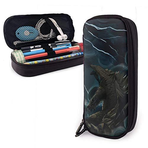 Neue Godzilla Federmäppchen Stift Tasche für Kinder, Jugendliche,Studententasche Briefpapier Funktionstaschen Doppelreißverschluss Make-up Buggy Münzgeldbörse