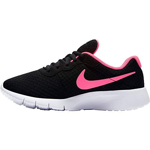 Nike Mädchen Tanjun (Gs) Laufschuhe, Schwarz (Black/Hyper Pink-White), 36.5 EU
