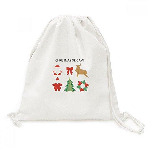 DIYthinker Red patrón Abstracto de Navidad de Origami de la Lona del morral del Lazo de Viaje Bolsas de la Compra