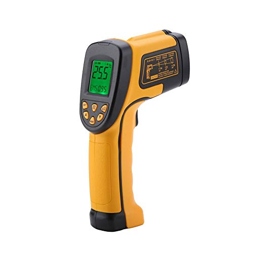 Digital Laser Infrarot Thermometer, SMART SENSOR AS842A Digitales berührungsloses Temperaturmessgerät, Instant Read Temperatur-Pistole -50℃ ~ 600 ℃, LCD Beleuchtung