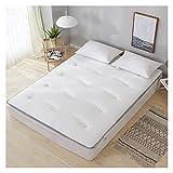 AiKoch 100% algodón Tela Gruesa y Transpirable colchón Plegable y Conveniente Material Saludable Relleno Solo tamaño Doble...
