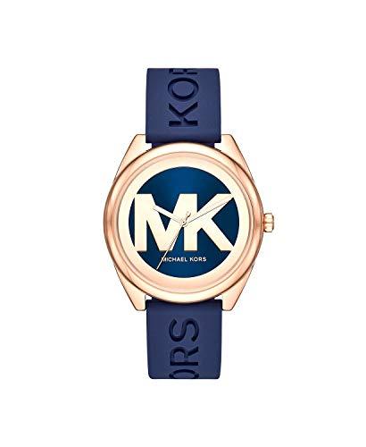 Michael Kors Women's Janelle Three-Hand Rose Gold-Tone Stainless Steel Watch MK7140