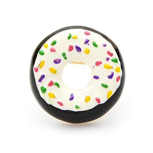 U/N Rosa Blau Weiß Emaille Donuts Brot Broschen Frauen Süße Lieblingsessen Casual Party Brosche Pins Neujahrsgeschenke-2
