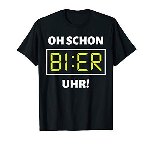 Bier Uhr Lustiges Mallorca Party Alkohol Bier Saufen Suff T-Shirt
