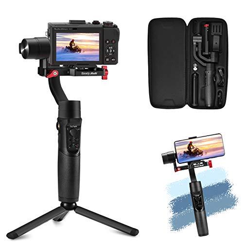 Gimbal Stabilisator - All in 1 3-Achsen-Handy Gimbal Stabilisator für Digitalkamera/Actionkamera/Smartphone mit 600 ° Aufnahmemodus, Kompatibel mit Gopro/iPhone/Sony Compact Camera RX100
