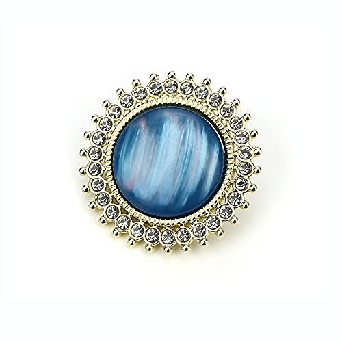 JDYDDSK Metal Cat-Eye Buttons Fashion Diamond Diamond Studded Colored DhinesTone Hebillas Cientos de Tops Mujeres Chaquetas Transportes Abrigos Cardigans Carteles Cierre,Sky Blue,1in