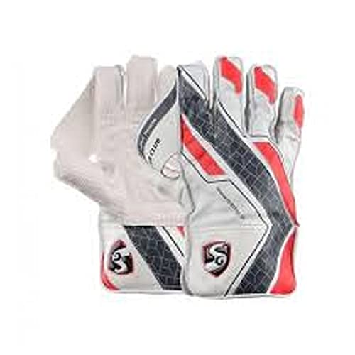 SG Super Club Wicket Keeping Gloves Youth Size All Leather Palm Recreation Right Hand