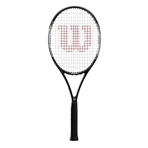 Wilson Pro Staff Precision 103, WR019110U3 Racchetta da Tennis, Tennisti Amatoriali di Livello Intermedio, Grafite e Alluminio, Nero/Grigio, Manico 3