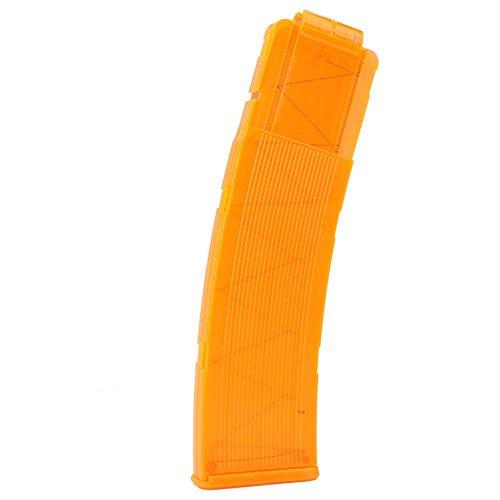 Zyyini 22 Dart Foam Bullet Clip, Soft Bullet Clip, Quick Reload Clip Toy Gun Clip Tactic Toy Clips Magazin Clip Eva Soft Bullet Clip Dart Ersatzplastik Patronenhalter für Nerfs Strike Elite(Orange)
