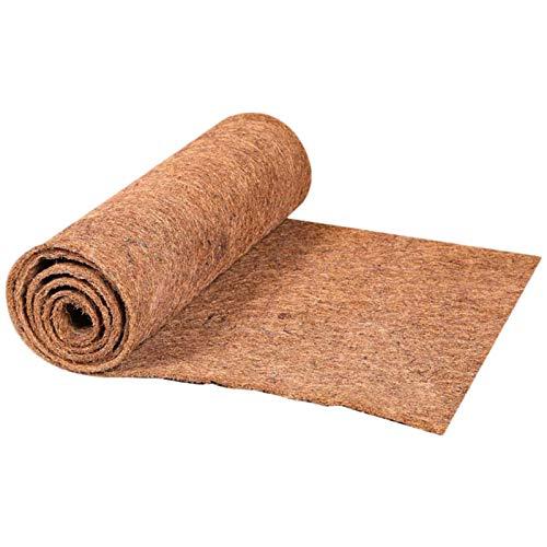 60*200cm Alfombra de reptiles, fibra coco sustrato fibra de coco natural alfombra fibra coco para mascotas Terrario Liner reptiles suministros para plantas flores colgante pared cesta reemplaz