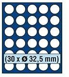 SAFE MÜNZBOX NOVA Nr. 6332 - 30 x 32,5 mm RUNDE FÄCHER - IDEAL FÜR 10 EURO / 10 DM - 10 Mark DDR GEDENKMÜNZEN ODER MÜNZEN BIS 32,5 mm DURCHMESSER -...