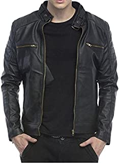 4fc1c80babdc Leather Men's Jackets: Buy Leather Men's Jackets online at best ...