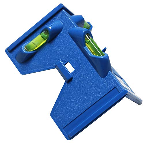Pfosten-Wasserwaage Winkelwasserwaage 135 mm mit drei Libellen, mit 4 Magnetstreifen