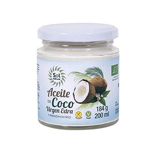 Solnatural Aceite De Coco Virgen Extra Pequeðo Bio 200 Ml 400 g
