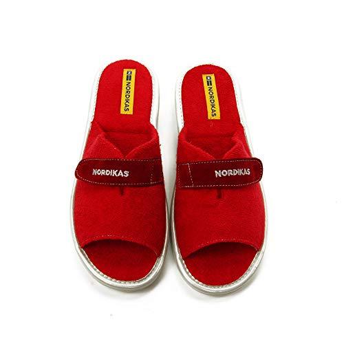 NORDIKA'S - Zapatilla CASA 7307 para: Mujer Color: Rojo Talla: 38