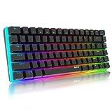Ajazz AK33 Mechanical Keyboard Gaming RGB Clavier avec 82 clés;Blue Switch &Anti- Ghosting Multimédia USB ergonomique Clavier;rétroéclairage Edition