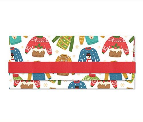 Porta soldi - Xmas - Jingle Bells - busta portasoldi (formato 22 x 9,5 cm) + biglietto d'auguri...
