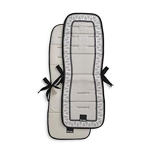 Elodie Details Colchoneta Universal para Silla de Paseo Reversible Acolchado Lavable CosyCushion - Desert Rain, Gris