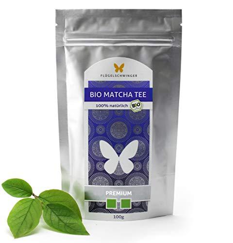 100g Bio-Matcha PREMIUM, 100% Matcha-Tee ohne Zusätze, nach traditioneller Art in Steinmühlen gemahlen, Matcha-Pulver (100g Matcha)