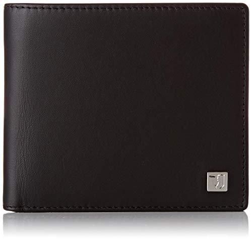 Trussardi Jeans Wallet Trifold Smooth, Portafoglio Uomo, Nero (Black), 2x11x13 cm (W x H x L)