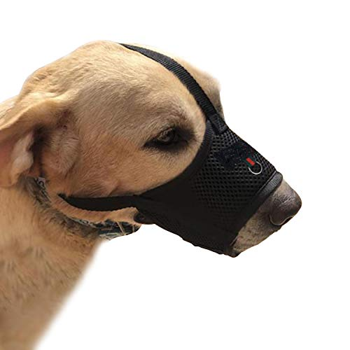YAODHAOD Dog Muzzle for Small Medium Dogs Soft Nylon Mouth Cover,Quick Fit...