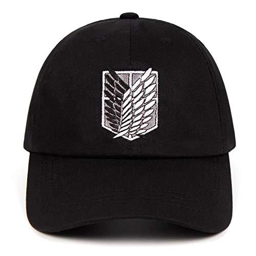 HAHADONG 100% algodón Aot Group papá Sombrero Bordado Gorra de béisbol señoras Hombres Hombres Snapback Sombrero con Escudo Negro, A