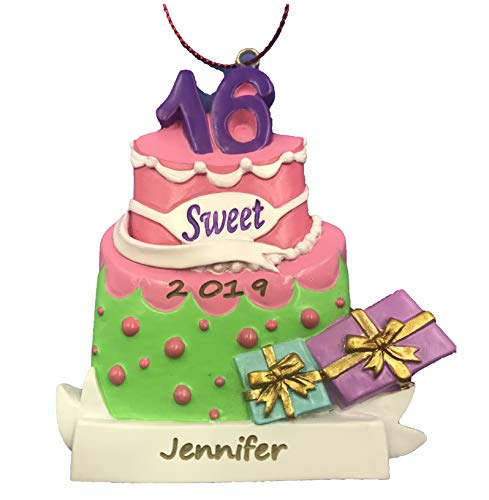 Personalized Sweet 16 Sixteen Christmas Ornament 2020
