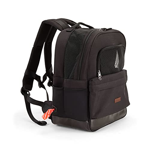 Petco Brand - Reddy Black Cotton Canvas Pet Carrier Backpack Made With Recycled Materials, Small