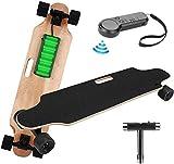 Oppikle Elektrisches Skateboard Longboard E Skateboard Elektrisches Elektrolongboard mit Fernbedienung und Motor-Reichweite Ca 10 km
