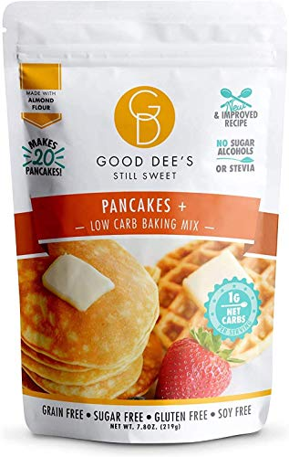 Good Dee's Pancake, Waffle & Scone Mix - Low Carb Keto Baking Mix (1g Net Carbs, 20 Pancakes) | Allulose Sweetened, Sugar-Free, Gluten-Free, Grain-Free & Soy-Free | Diabetic, Atkins & WW Friendly