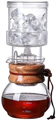 Olla de café de alta borosilicato resistente al calor de vidrio de extracción en frío Pot de goteo manual integrado hielo goteo café