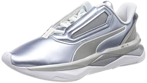 PUMA Lqdcell Shatter XT Metal Wns, Zapatillas Deportivas para Interior para Mujer - Gris (Puma Silver-Puma White) - 38 EU