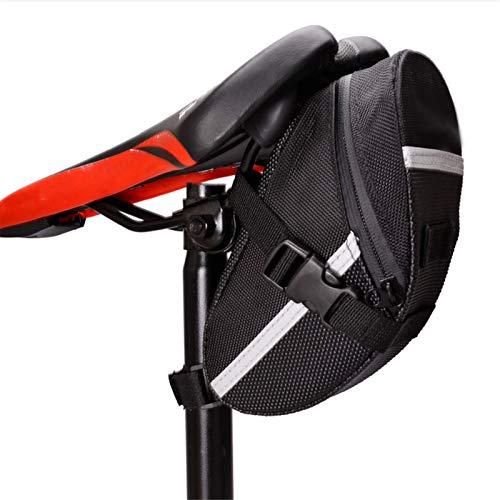 Bolsa de sillín de bicicleta impermeable para bicicleta bolsas de sillín de bicicleta de deporte Ciclismo bolsa de cola de asiento bolsa paquete cinta reflectante paquetes de asiento de ciclismo