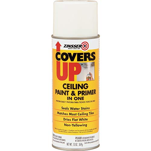Zinnser 03688 Covers Up Stain Sealing Ceiling Paint, White