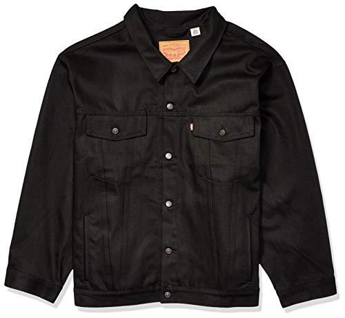 Levi's Men's Tall Big & Tall Trucker Jacket-Big, Polished Black, 2XL