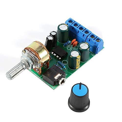 Amplificador de audio para automóvil, DC1.8-12V TDA2822M Amplificador 2 canales Estéreo 3.5 mm Módulo de placa de amplificador de audio AUX para grabadora de cinta, Altavoz de computadora