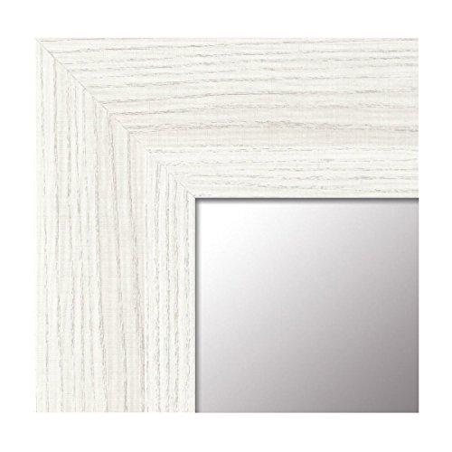 Espejo de Pared Fabricado en España- Varios Tamaños y Colores - Espejo Vestidor, Salón, Baño, Entraditas- Modelo MDF8 (Blanco Veta, 65x165 cm)