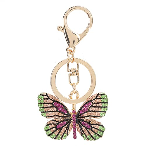 Farfalla Portachiavi Pittura Diamante DIY Portachiavi Strass Portachiavi per Donne Borsa Borsa Borsa Charm Pur(#3)