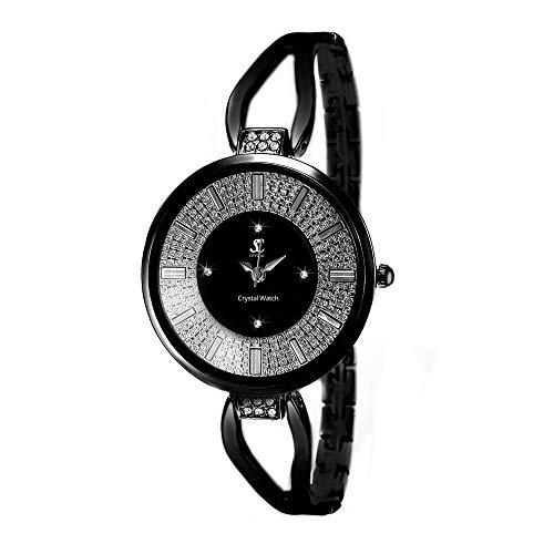 So Charm Reloj de pulsera elegante, fabricado con 16 cristales Swarovski