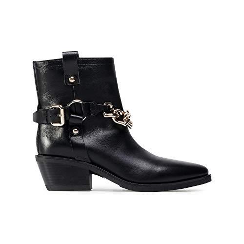 Love Moschino Texano50 Vitello Bottes pour femme JA21445G0BJA0 000 Noir - Noir - Noir , 41 EU EU