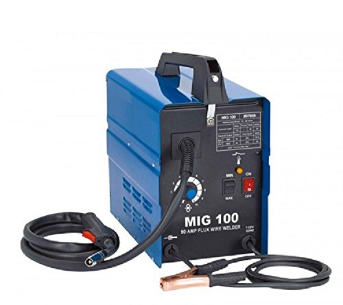 90 Amp 120v Wire Feed Portable Mig Welder Non Gas Welding Fabrication Welding Set